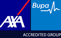 Bupa and AXA accredited group